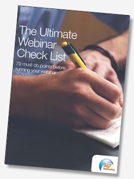 The Ultimate Webinar Check List